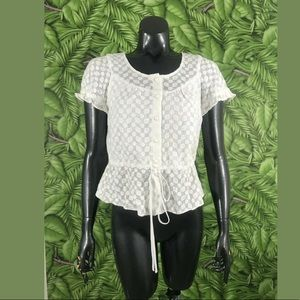 Milly of New York Peplum Top Size Small